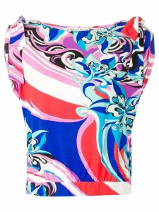 Emilio Pucci Merida Print Bow Detail Blouse - Pink