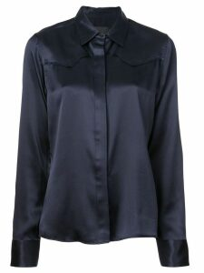 Nili Lotan satin shirt - Blue