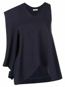 JW Anderson asymmetric patch pocket blouse - Blue