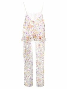 See By Chloé floral devoré panelled cami - White
