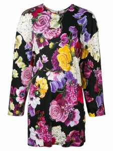 Dolce & Gabbana floral long-sleeve blouse - Black