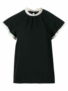 Red Valentino tied collar top - Black