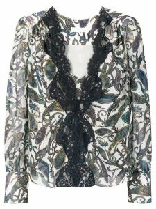 Chloé lace trim blouse - Blue