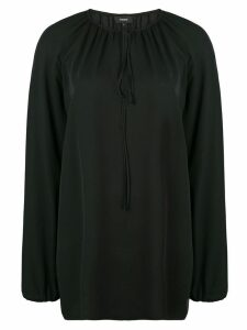 Theory gathered neck blouse - Black