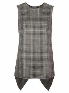 Adam Lippes plaid sleeveless top - Grey