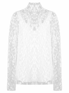 Chloé sheer floral blouse - White