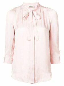 Zadig & Voltaire ruched blouse - PINK
