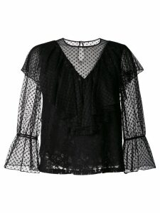 See By Chloé ruffled lace blouse - Black