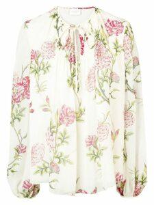 Giambattista Valli floral-print top - NEUTRALS