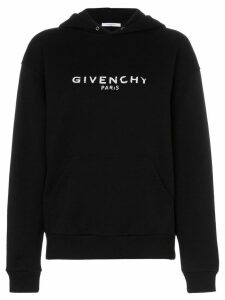 Givenchy oversized faded logo print hoodie - Black