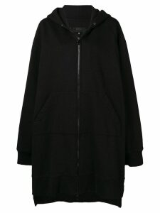 Mm6 Maison Margiela oversized zipped hoodie - Black