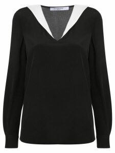 Givenchy contrasting collar blouse - Black