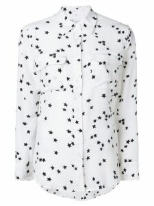 Equipment silk star print shirt - White