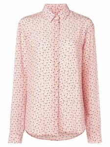 Saint Laurent all over print classic shirt - PINK