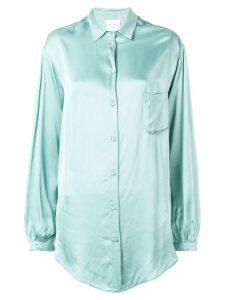 Forte Forte long-sleeved loose shirt - Blue