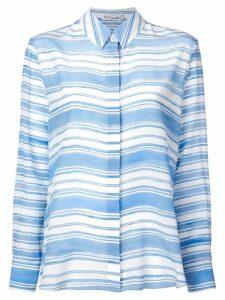 Altuzarra striped silk shirt - Blue