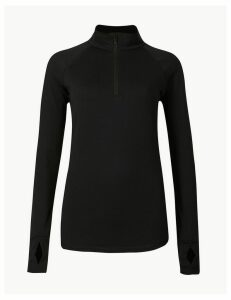 M&S Collection Quick Dry Half Zip Run Top