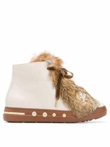 Baldinini embellished ankle boots - Neutrals