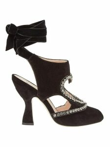 Fendi wrapped ankle sandals - Black