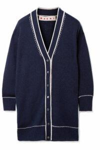 Marni - Oversized Cashmere Cardigan - Navy