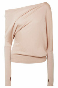 TOM FORD - One-shoulder Cashmere And Silk-blend Sweater - Beige