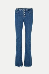 Marques' Almeida - + 7 For All Mankind Frayed Mid-rise Bootcut Jeans - Mid denim