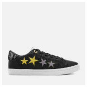 Superdry Women's Priya Sleek Lo Trainers - Black Star Embossed - UK 3 - Black