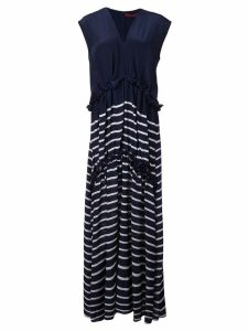 Sies Marjan striped silk dress - Blue