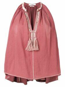 Isabel Marant Étoile tassel-detail flared top - Pink