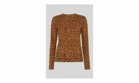 Cheetah Printed Sparkle Knit