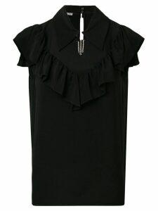 Miu Miu ruffle strass blouse - Black