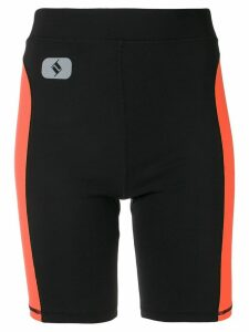 T By Alexander Wang side stripe cycling shorts - Black