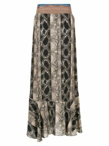 Amir Slama printed long skirt - Black