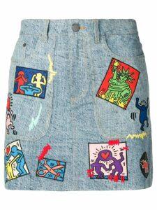 Alice+Olivia patch detail skirt - Blue