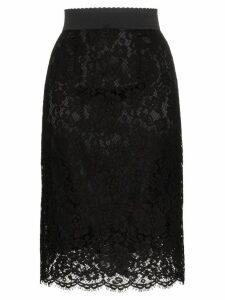 Dolce & Gabbana lace midi pencil skirt - Black