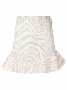 Atu Body Couture high waisted mini skirt - NEUTRALS