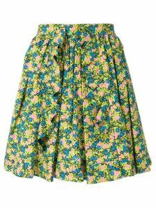 MSGM floral print pleated skirt - Multicolour