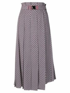 Fendi belted pleated skirt - Pink