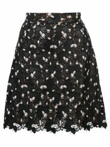 Giambattista Valli floral lace straight skirt - Black