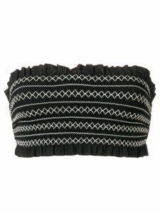 Tory Burch Costa ruffle bandeau top - Black