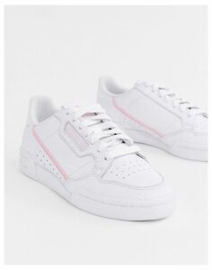 adidas Originals white and pink Continental 80 trainers
