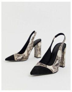ASOS DESIGN Password slingback high heels