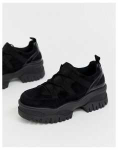 ASOS DESIGN Distance chunky trainers-Black
