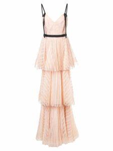 Marchesa Notte long empire line dress - PINK
