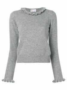 Red Valentino frill neck jumper - Grey