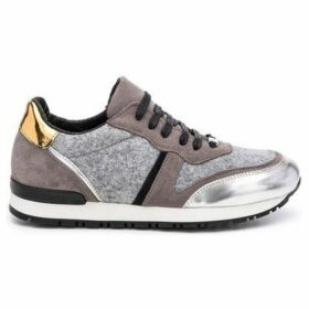 Cuplé  Leather sneakers  women's Shoes (Trainers) in Grey