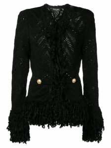 Balmain knitted fringe cardigan - Black