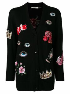 Alice+Olivia multi-patch cardigan - Black