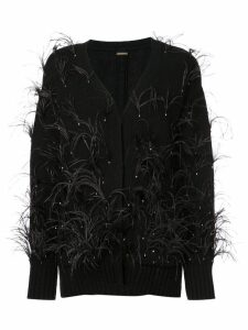 Adam Lippes feathered cardigan - Black