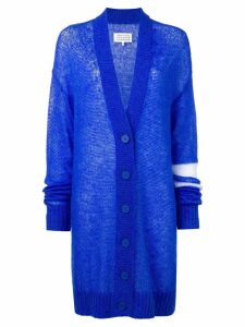 Maison Margiela oversized cardigan - Blue